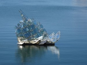 Sculpture in the bay