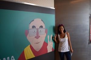 Loan with the Dalai Lama - Courtesy of Loan's camera