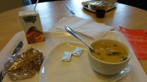 Ryan's seafood chowder at Giant's Causeway Visitor Center - His absolute favorite meal of the trip