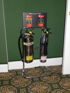 Ashford Castle is serious about fire safety.  These can be found in the hallways every two rooms.