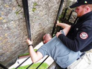 Ryan kissing the Blarney Stone