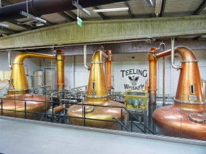 The copper pot stills are named after one of the owners three daughters