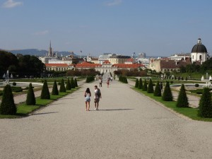 Vienna from the Belvedere Gardens
