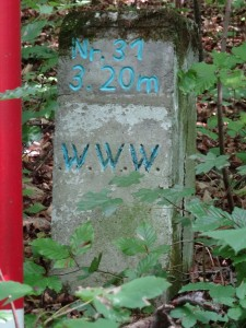 These markers were all throughout the hike, still haven't figured out their meaning.
