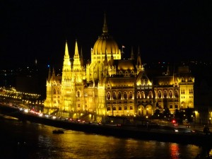 Parliament building from Buda Castle