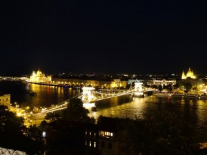 Chain Bridge from Buda Castle