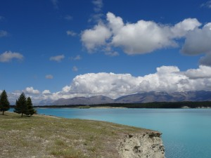 This is the view of Lake Pukaki we woke up to