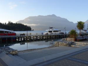 Lake in Queenstown at our early morning departure point